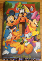 Mickey Minnie Donald Duck Light Switch Power Outlet wall Cover Plate Home decor image 1
