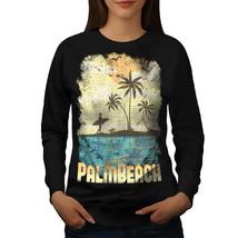 Palm Beach Holiday Jumper Florida USA Women Sweatshirt - $18.99