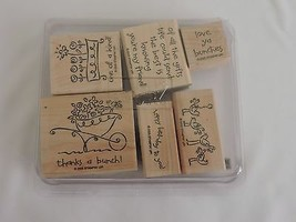 Stampin Up Love Ya Bunches Stamps Best Friend Birthday 2005 - $12.40