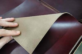 Horween Chromexcel Burgundy Leather Piece, 5.5 ounces thick. Select your... - $3.85+