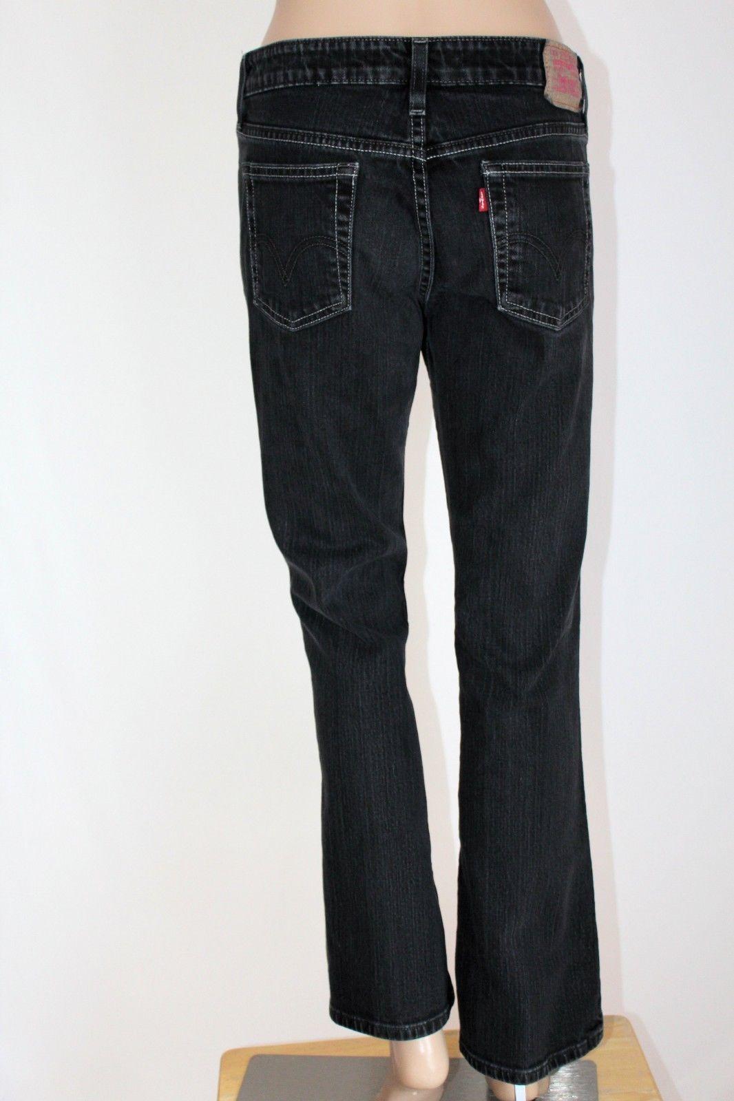 0f7e5301db0 S l1600. S l1600. Previous. LEVI'S 518 Junior Women's Size 7 S Black SuperLow  Boot Cut Stretch ...