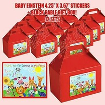 Baby Einstein Party Favor Boxes Thank you Decals Stickers Loots Baby Shower - $24.70
