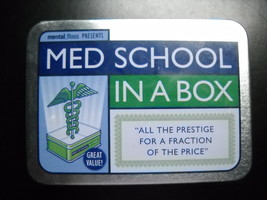 Mental Floss Med School In A Box Game A Complete Medical Education Seale... - $29.99