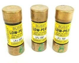 LOT OF 3 COOPER BUSSMANN LPJ-8SP LOW-PEAK FUSES LPJ8SP, 8A, 600V