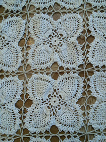 """Crocheted Tablecloth 68"""" X 55"""""""