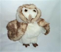 """Folkmanis Barn Owl Puppet Plush Stuffed Animal Full Body Nwot 12"""" - $16.82"""