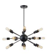 Sputnik Ceiling Light Fixture Atomic Starburst Modern Industrial Mid Cen... - $112.97