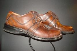 Clarks Burnished Brown Leather Saddle Derby Oxford Sz. 12M NICE! - $37.13