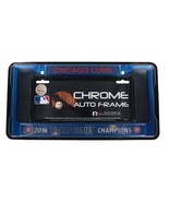 chicago cubs anodized blue world series champs mlb license plate frame usa made - £19.38 GBP