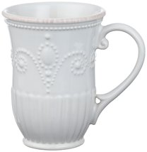 "Lenox AMERICAN BY DESIGN ""Frence Perle Jewel"" WHITE SET OF 4 MUGS 12 OZ ... - $79.40"