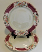 """2 Homer Laughlin China M45N6 Brittany Majestic Dinner Plates 9"""" USA - $33.66"""