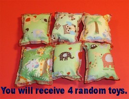 Hand Made Pink Hello Kitty Patterns Rectangle Cat Catnip Pillow Toy 4 ea