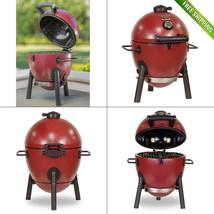 Char-Griller Akorn Kamado Kooker Jr. Durable Cast Iron Charcoal Grill Po... - $195.68