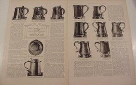 1914 OLD AMERICAN SILVER TANKARDS ~ CANS ~ SPOONS MAGAZINE ARTICLE 49 PH... - $12.99