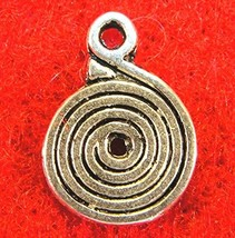 20Pcs. Tibetan Silver 2-Sided Swirl Spiral Charms Pendants Earring Drops... - $19.05