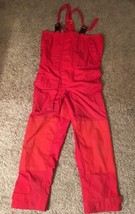 US Boat Nautical Gear Mens Nylon Weather Red Bib Overall Pants W/ Suspen... - $69.98