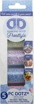 Leisure Arts Diamond Dotz Freestyle Sampler Pack 5/Pkg-Pastel - $11.08