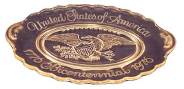 Vintage Avon 1976 United States of America Bicentennial Glass PLate - $4.99