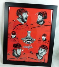 """Washington Capitals Stanley Cup Champions 2018 Framed Artwork Poster 16"""" x 20"""" - $99.99"""