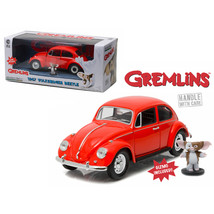 1967 Volkswagen Beetle Gremlins Movie (1984) with Gizmo Figure 1/24 Diec... - $43.58