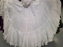 Snow White ATS Tribal Bellydance 25 Yard Gypsy Skirt - $89.99