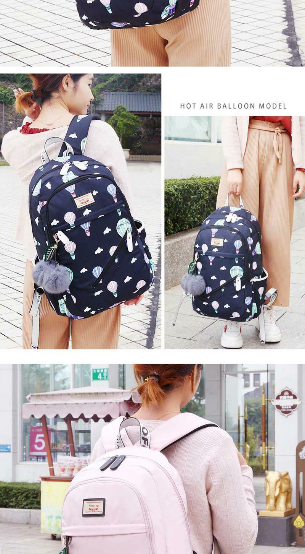 Women Backpack Travel Anti Theft Design Large Capacity Teenage Girl School Bags image 10
