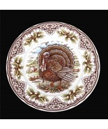 "4 LRG Thanksgiving Victorian English Pottery Turkey Chestnuts 7-1/2"" Bow... - $46.99"