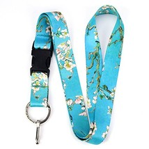 Buttonsmith Van Gogh Almond Blossom Premium Lanyard - with Buckle and Fl... - $10.92