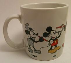Vintage 1986 Disney Mickey Mouse Through the Years 12 Oz. Mug - $11.88