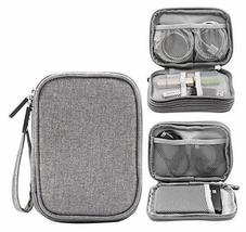 Double Layer High Capacity Headset Data Lines Protective Case-Gray - $19.41