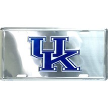 University of Kentucky Wildcats Chrome Metal Car License Plate Auto Tag ... - $6.95