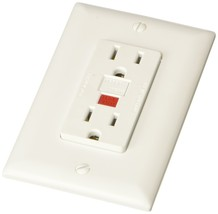 RV Designer S801, Dual GFCI Outlet with Cover Plate, White, AC White - $26.65