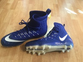 Nike Force Savage Elite TD Lineman Football Cleats Blue White SZ 16 918345-416 - $32.00