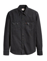 Levi's Classic Casual Denim Black Sawtooth Western Shirt Color Black 658190098 image 2