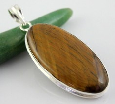 Tiger's Eye Silver Overlay Handmade Pendant Jewelry 20 Gr. Oj-392-17 - $8.09