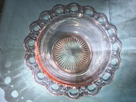 """Pink Old Colony Depression Glass Vegetable Bowl Mint 9.5"""" Plain - $15.99"""