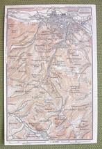 GERMANY Environs of Eisenach - 1904 MAP ORIGINAL Baedeker - $3.72