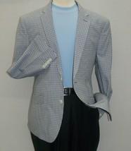 Mens Checker sports Coat U.S. Polo Assn. 100% Cotton 2 Button 8949J Blue... - $79.96