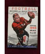 1945 Football Record and Rule Book C C Spink and Son Football Guide - $48.51