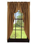 Olivia's Heartland country primitive Cambridge Mustard PRAIRIE Curtains ... - $62.95