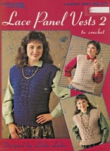 "Leisure Arts ""Lace Panel Vest 2 in Crochet"" 3 Designs - Gently Used - $3.00"
