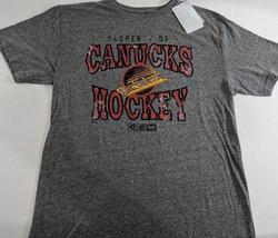 LZ CCM Men's Large Vancouver Canucks NHL Hockey T-Shirt Tee Shirt Top NE... - $13.99