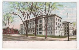 Central High School Springfield Massachusetts 1908 postcard - $5.45