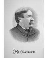 ORLANDO NORCROSS Massachusetts Builder & Contractor - 1895 Portrait Print - $9.44