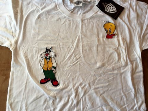 Looney Tunes T-Shirt Warner Bros  Tweety Medium Acme NWT new Sylvester 1991 vin - $33.24