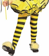 Bumble Bee Yellow Black Striped Girls Tights Toddler Child Kids Size Cos... - $7.95