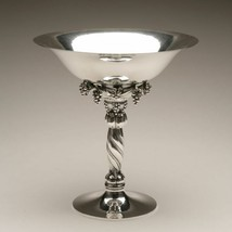 Georg Jensen Sterling Silver Large Grape Compote, No. 264A Hand Hammered - $16,195.50