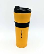 RARE Starbucks Coffee 2016 Steel Tumbler Travel Mug TAXI CAB YELLOW 16oz - $38.70