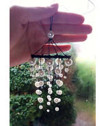 Mini white black mobile dreamcatcher Christmas tree hanging Beads dreamc... - $21.69