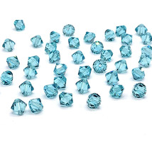 12 Swarovski 5328 XILION Crystal Bicone Beads 8mm green teal LIGHT TURQU... - $10.96